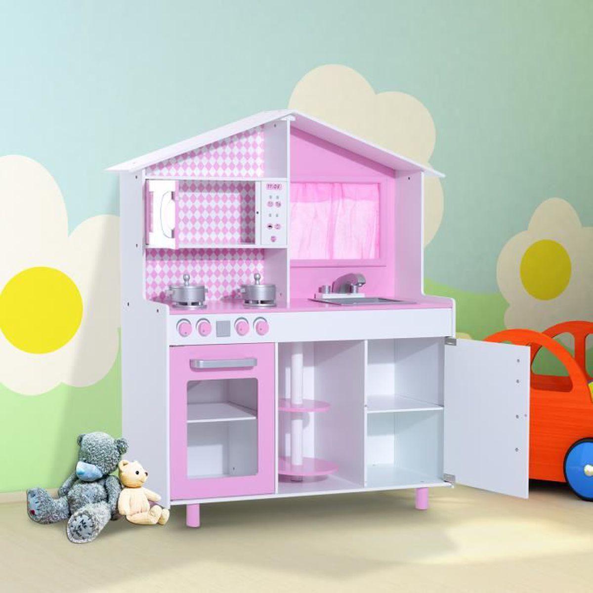 Cuisine en bois pour enfant plus de 3 ans jeu d imitation for Jeu de cuisine pour enfant