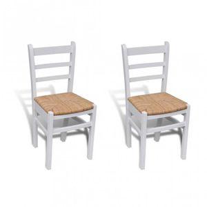 CHAISE 2 Chaises de cuisine salon salle à manger classiqu