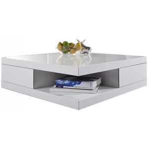 Table basse carre laquee blanc achat vente table basse - Table basse carree pas cher ...