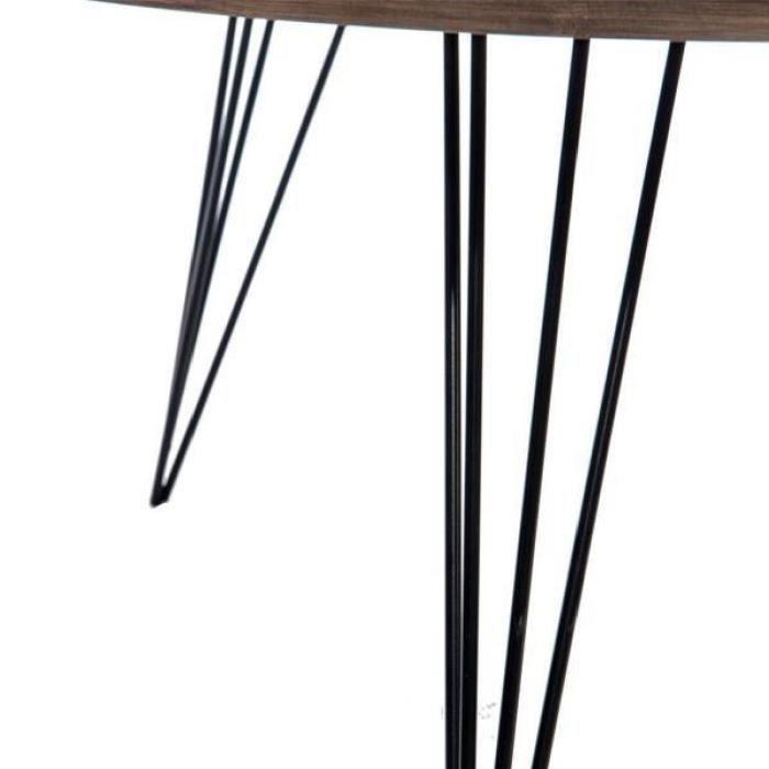Table basse bois fum et m tal noir gustave achat for Table basse scandinave noir et bois