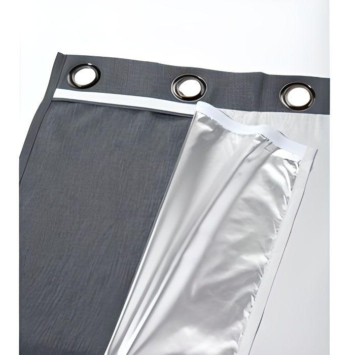 Doublure thermique moondream fixable sur rideau achat vente rideau tissu papier polyester - Rideau thermique moondream ...