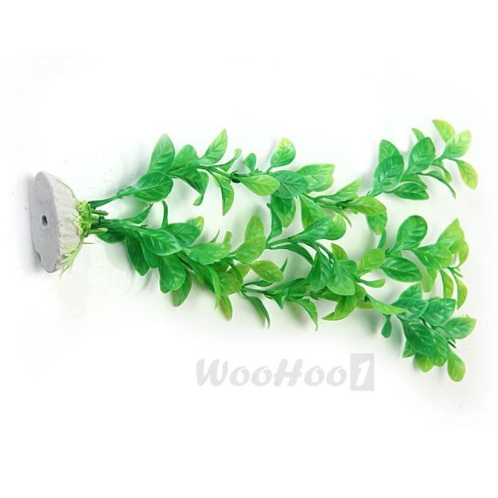 Plante artificielle aquatique en plastique vert d co for Deco plante artificielle