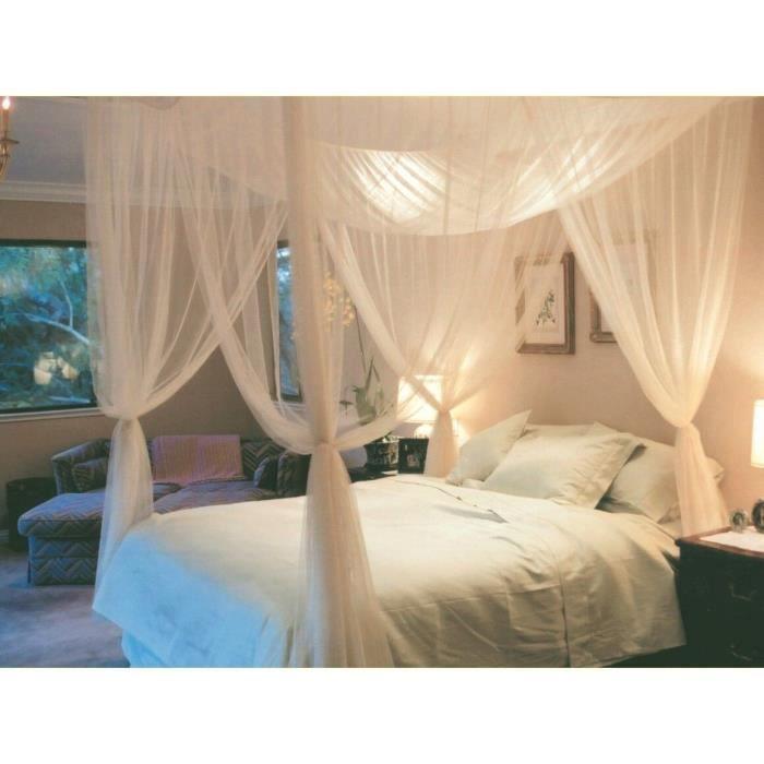 ciel de lit moustiquaire quatre coins protection complete. Black Bedroom Furniture Sets. Home Design Ideas