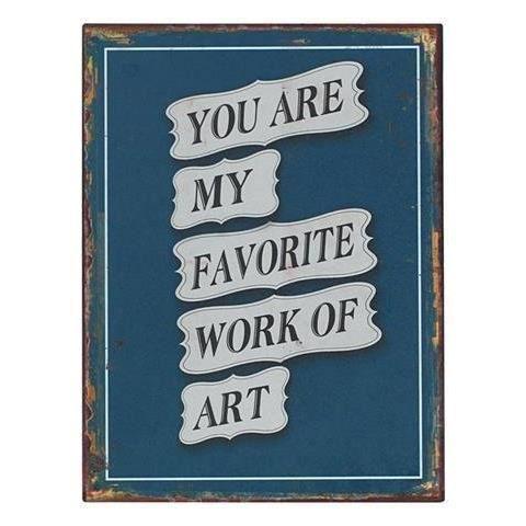 Plaque murale message vintage 33x25 cm achat vente for Plaque de decoration murale