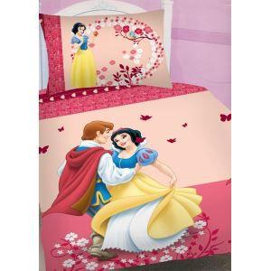 Parure de lit blanche neige pour lit 1 personne achat for Parure de lit blanche