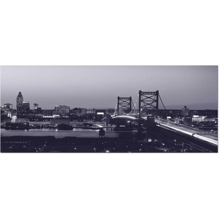 Brio toile noir et blanc pont de brooklyn 30x80 cm achat - Toile pont de brooklyn ...