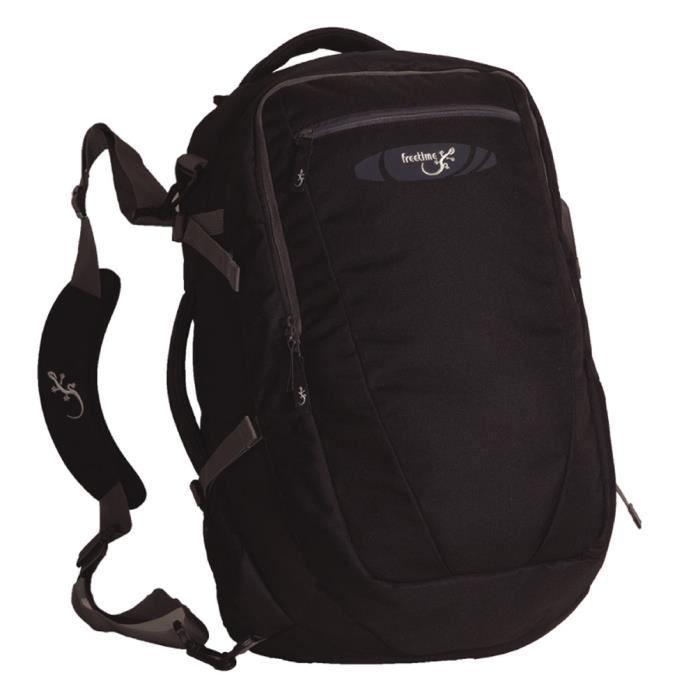sac de voyage 40l sac dos valise format cabine noir noir achat vente sac de voyage. Black Bedroom Furniture Sets. Home Design Ideas