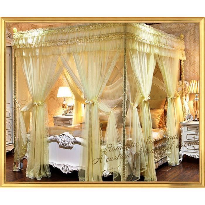 luxe moustiquaires palais tente lit rideaux trois portes rideau lit baldaquin filets princesse. Black Bedroom Furniture Sets. Home Design Ideas