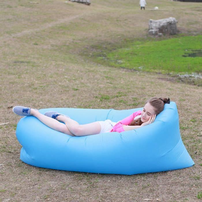 Creative gonflable chaise longue de plage sacs de couchage for Chaise gonflable
