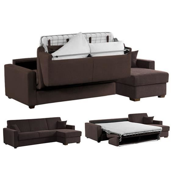 canap d 39 angle convertible option memory 140x190 achat. Black Bedroom Furniture Sets. Home Design Ideas