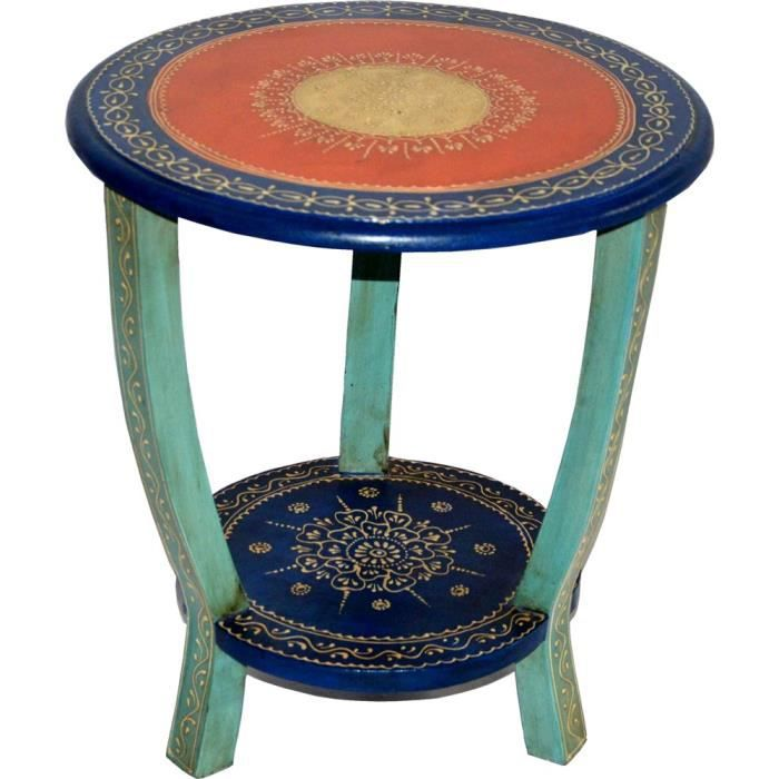 Table d 39 appoint ronde swithome shisha bois de manguier for Table ronde d appoint