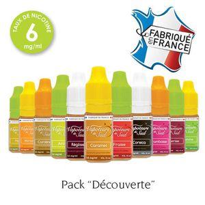 LIQUIDE Pack découverte 12 E-liquides 6mg