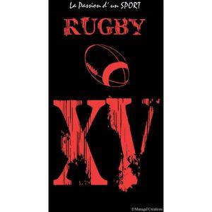 SERVIETTE DE PLAGE Serviette de plage rugby , la passion d'un sport 9