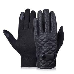 e3dd19e3e9a83 gant homme en cuir noir