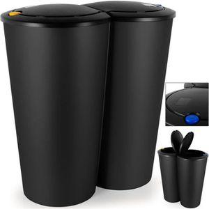 Poubelle 2 compartiments achat vente poubelle 2 compartiments pas cher les soldes sur - Poubelle double tri ...