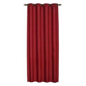 rideaux rouge achat vente rideaux rouge pas cher cdiscount. Black Bedroom Furniture Sets. Home Design Ideas