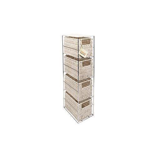 woodluv tour en r sine 4 tiroirs de rangement blanc achat vente tour de rangement cdiscount. Black Bedroom Furniture Sets. Home Design Ideas