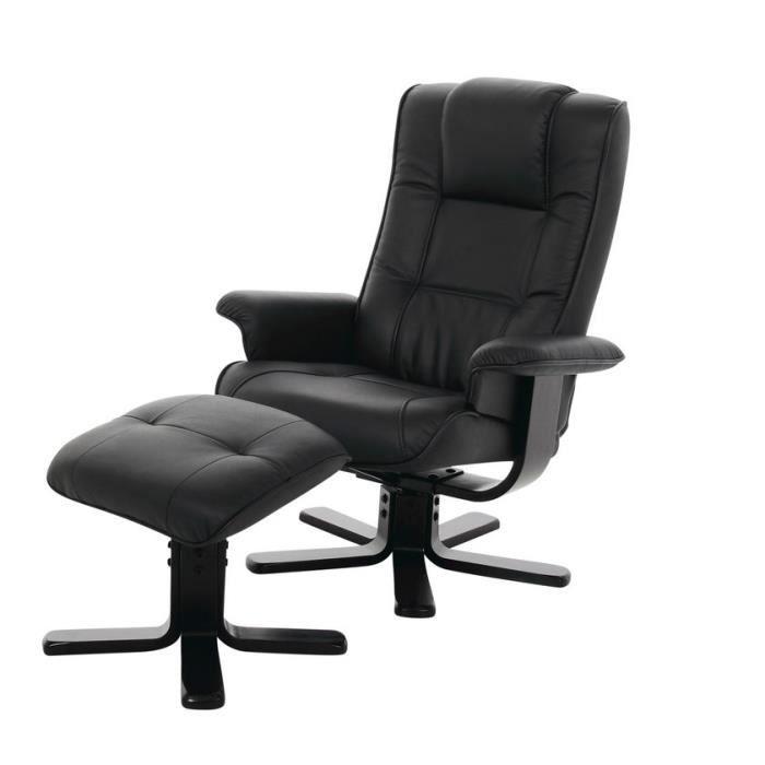 fauteuil limbo avec repose pieds en cuir fauteuil achat. Black Bedroom Furniture Sets. Home Design Ideas