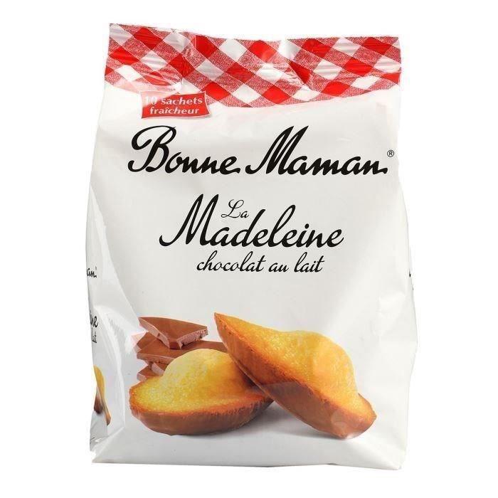 bonne maman madeleines au chocolat au lait 300g achat vente madeleines quatre quart bm mad. Black Bedroom Furniture Sets. Home Design Ideas