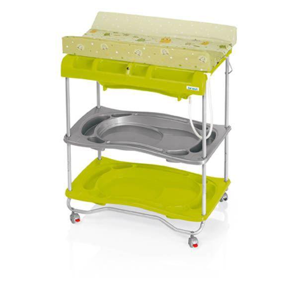 Table langer avec baignoire atlantis vert t achat for Table a langer atlantis