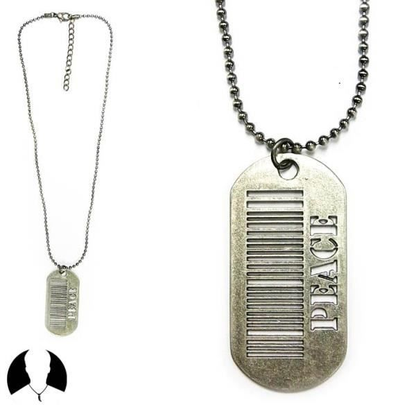 collier homme barre