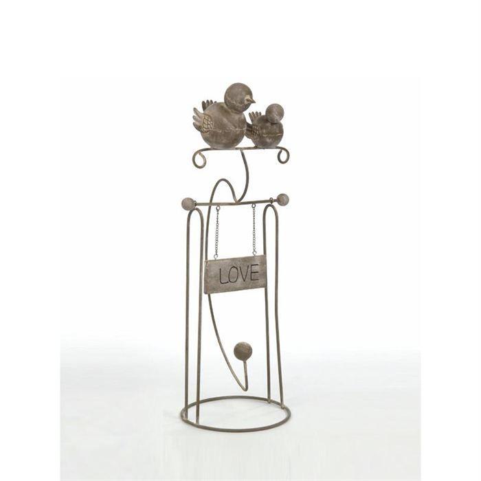 balancoire 2 oiseaux en fer forge beige achat vente statue statuette cdiscount. Black Bedroom Furniture Sets. Home Design Ideas
