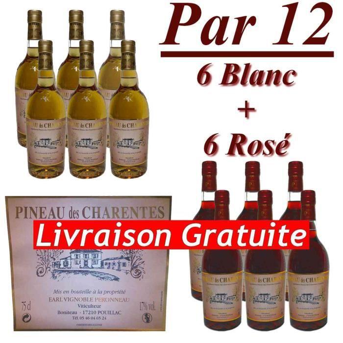 Pineau des charentes 75cl x12 vignoble peronneau achat for Aperitif maison a base de vin