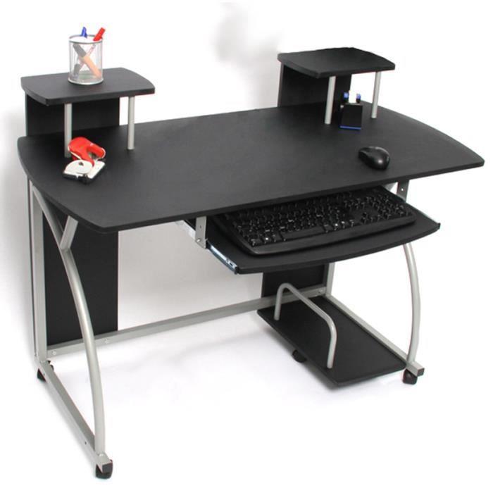Table de bureau jeunesse ohio noir dim h90 x achat for Table 6 ohio