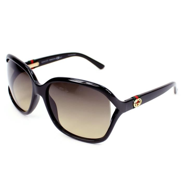 lunettes de soleil gucci gg3646 s noir brillant noir. Black Bedroom Furniture Sets. Home Design Ideas