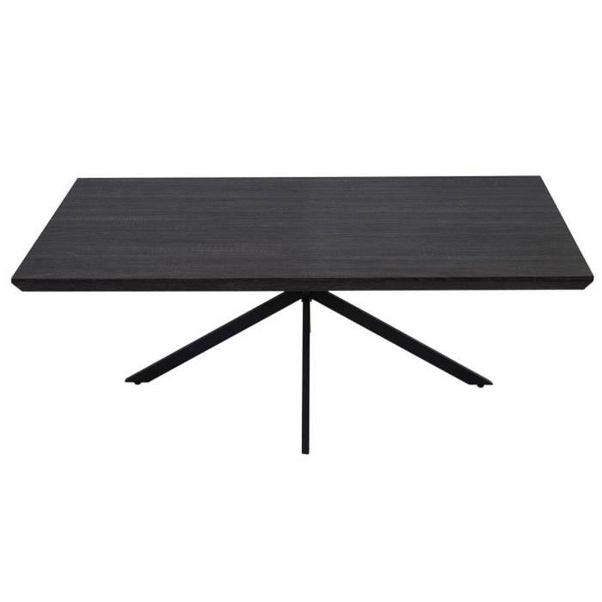Table Basse Coloris Ch Ne Noir Avec Pieds En M Tal Noir H 40 X L 110 X P 60 Cm Achat Vente