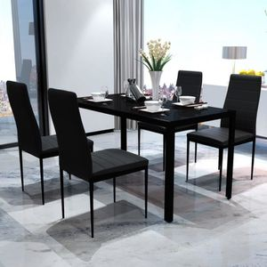 TABLE A MANGER COMPLET Table a manger avec 4 chaises aspect contemporain