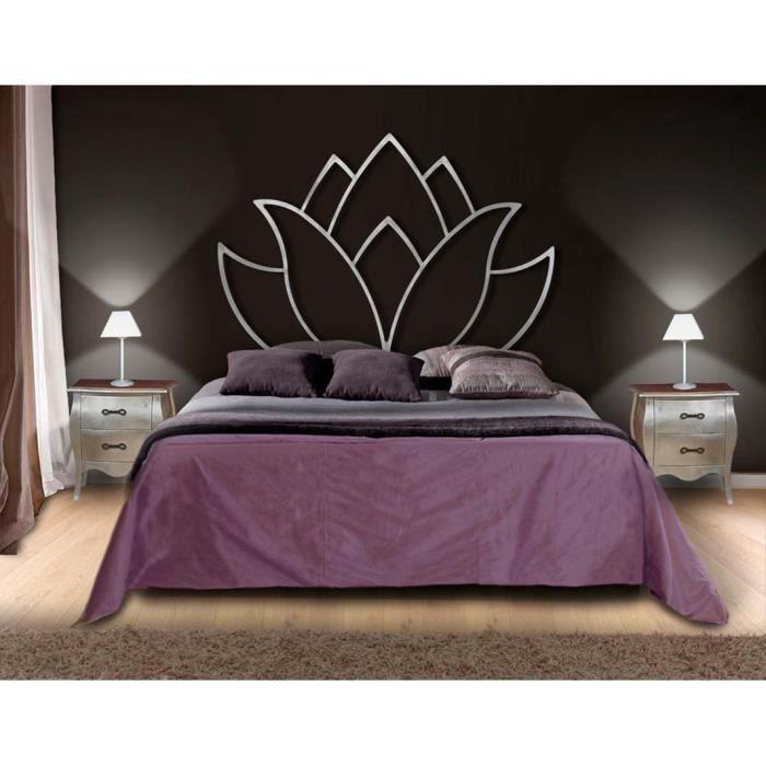 T tes de lit en fer forg mod le fleur de lotus t te de lit en fer forg - Tete de lit en solde ...