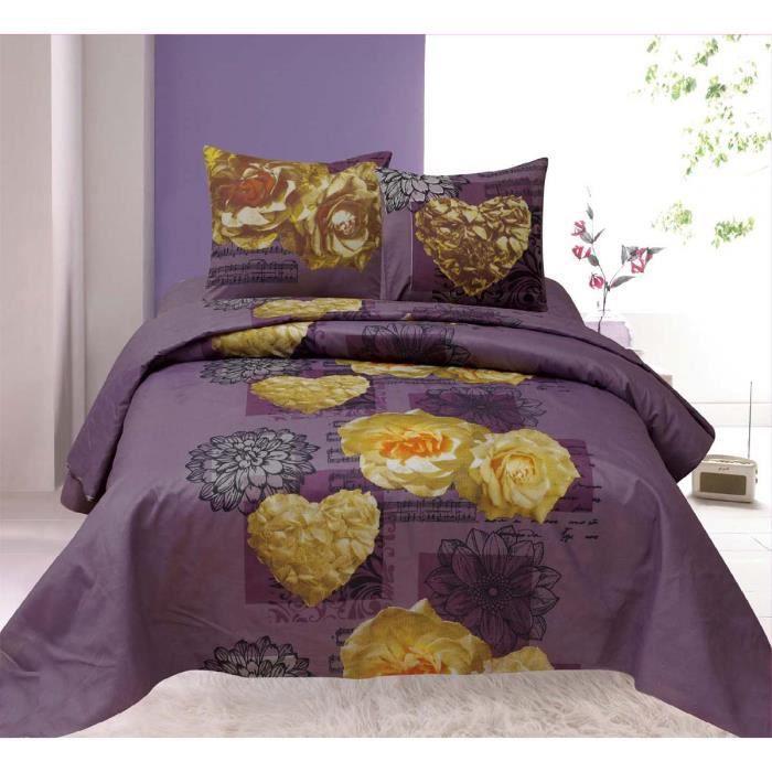 housse de couette c urs de roses pour lit 2 personnes 2 taies cette parure de lit contient. Black Bedroom Furniture Sets. Home Design Ideas