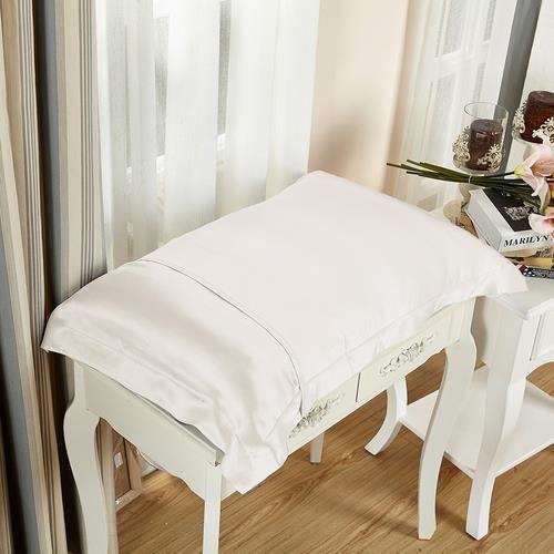 lilysilk lot de 2 taies d 39 oreillers 100 soie avec volant soie 19 momme ivoire 50 x 75cm achat. Black Bedroom Furniture Sets. Home Design Ideas