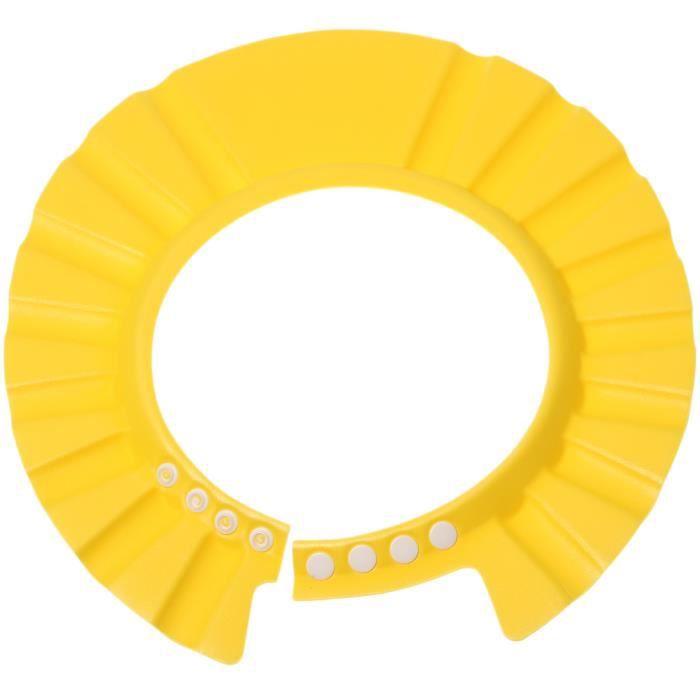 b b bonnet de douche bain protection r glable jaune jaune. Black Bedroom Furniture Sets. Home Design Ideas
