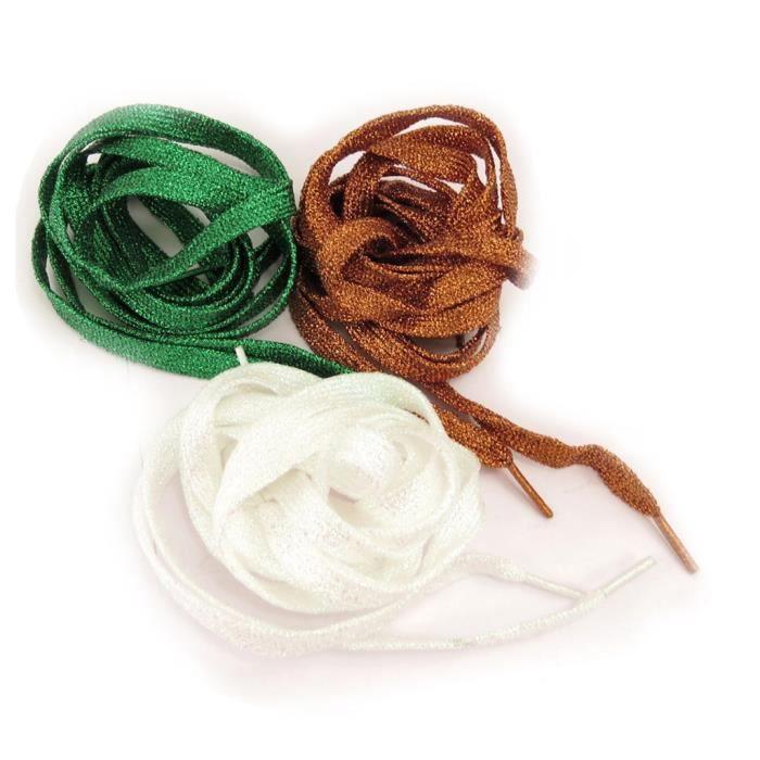 3 paires de lacets coloriage vert marron blan achat - Coloriage marron ...