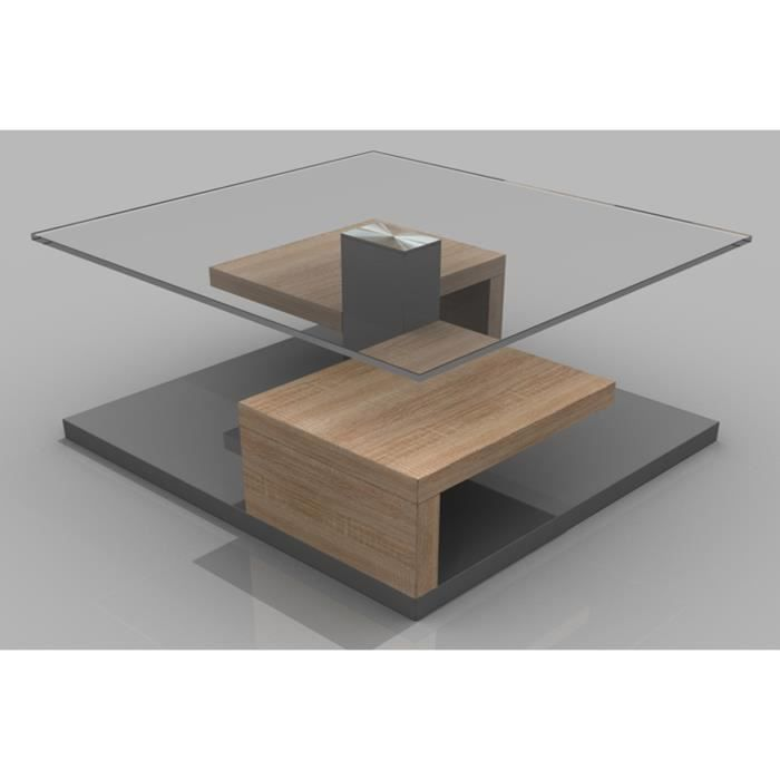 table basse ranga sonoma ch ne clair gris 800 achat. Black Bedroom Furniture Sets. Home Design Ideas