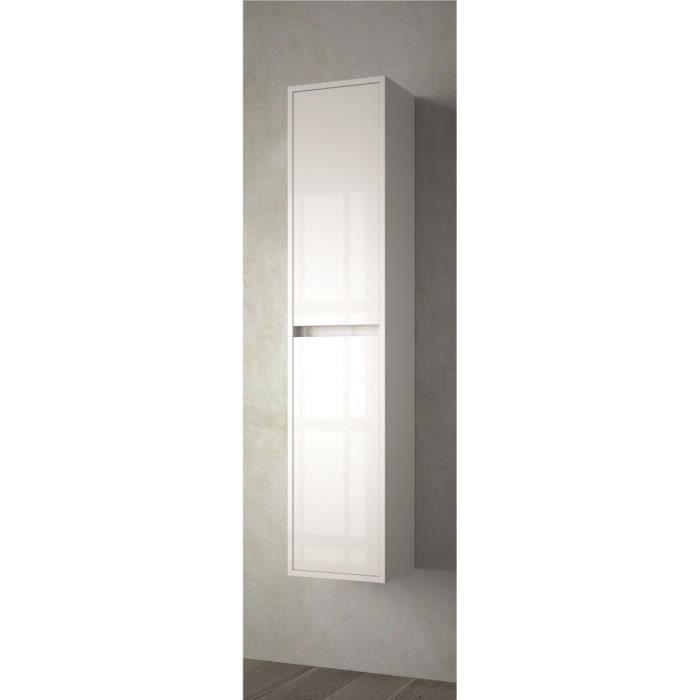 colonne suspendue couleur blanche achat vente armoire de toilette colonne suspendue couleur. Black Bedroom Furniture Sets. Home Design Ideas
