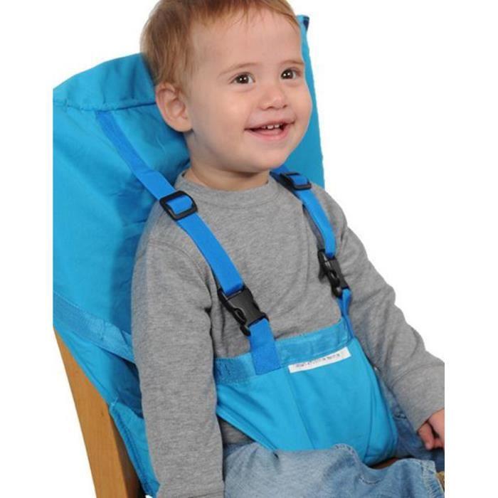 coussin de chaise haute avec sangles b b portable ceinture de s curit voyage bleu achat. Black Bedroom Furniture Sets. Home Design Ideas