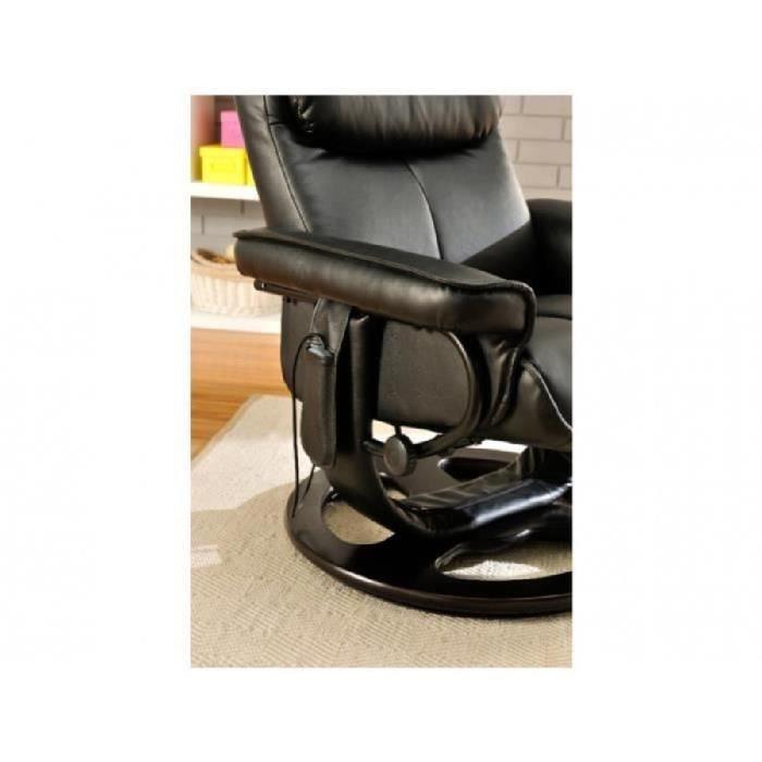 Fauteuil massant julio noir achat vente fauteuil noir cdiscount - Fauteuil massant occasion ...
