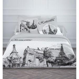 housse couette 220x240 blanche achat vente housse. Black Bedroom Furniture Sets. Home Design Ideas