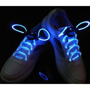 une paire led lacet de chaussure lumineux lacet bleu achat vente lacet cdiscount. Black Bedroom Furniture Sets. Home Design Ideas