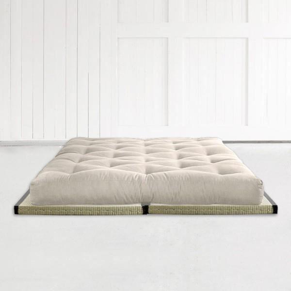 matelas futon latex 160 2 tatamis achat vente futon. Black Bedroom Furniture Sets. Home Design Ideas