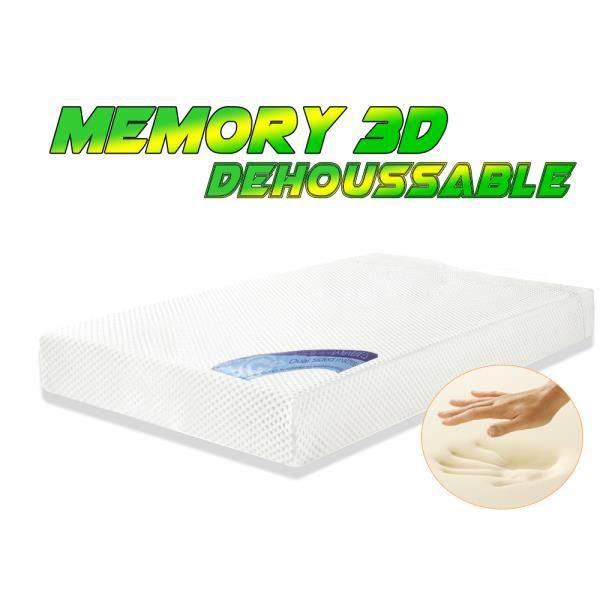 Matelas m moire de forme 160 x 200cm memory 3d achat vente matelas cdis - Matelas memoire de forme 160 ...