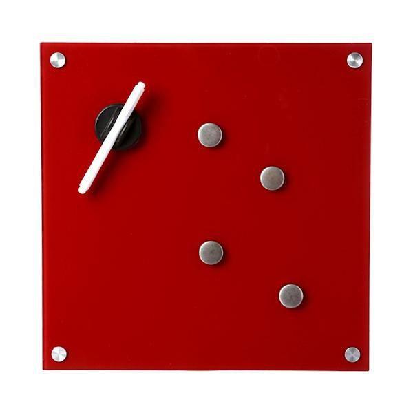 tableau m mo magn tique en verre rouge 35x35cm achat vente m mo ardoise murale. Black Bedroom Furniture Sets. Home Design Ideas