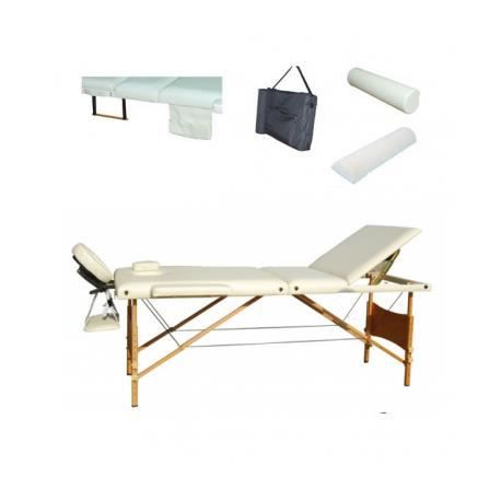 Table de massage pliante 3 zones bois blanche achat vente table de m - Achat table de massage pliante ...