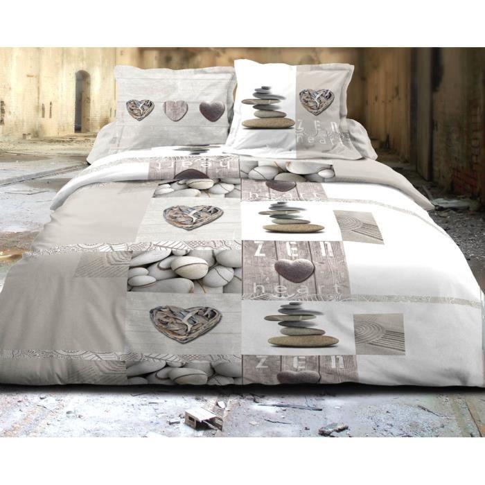 parure housse de couette zen achat vente parure housse. Black Bedroom Furniture Sets. Home Design Ideas