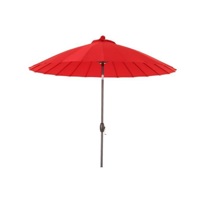 parasol droit rond boyeros hesperide rouge achat vente parasol parasol droit rnd boyeros. Black Bedroom Furniture Sets. Home Design Ideas