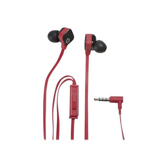 hp in ear stereo headset h2310 ruby red casque couteur audio avis et prix pas cher. Black Bedroom Furniture Sets. Home Design Ideas