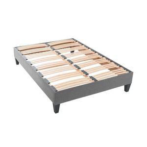 sommier kit 140x190 achat vente sommier kit 140x190 pas cher les soldes sur cdiscount. Black Bedroom Furniture Sets. Home Design Ideas